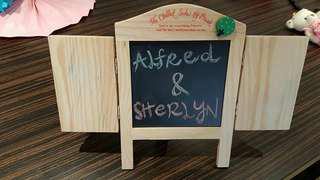 Table top chalk board (Pre-loved)