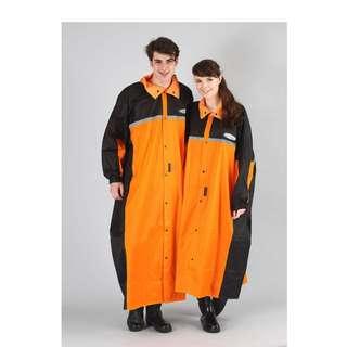 🚚 天龍牌 競速型 SPORT 一件式 前開式 連身式 防水 防寒 雨衣 - 黑/橘