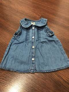 Pre-loved girls denim sleeveless top