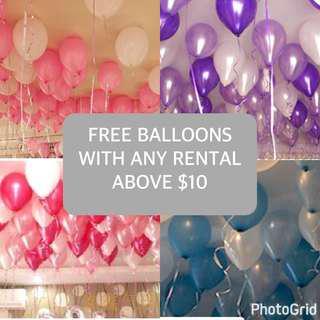 FREE non helium BALLOONS