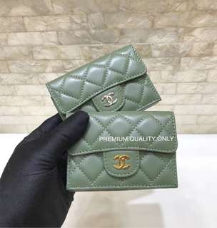 Chanel Classic Wallet- green
