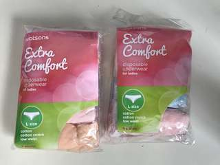 Watsons extra comfort disposable underwear for ladies