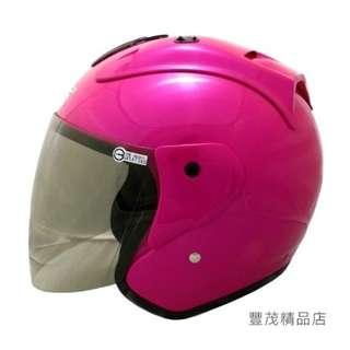 🚚 【買就送價值250電鍍彩片】GP-5 612 3/4罩/半罩安全帽- 消光藍 桃紅 粉紅 綠 類LUBRO 『豐茂精品店』
