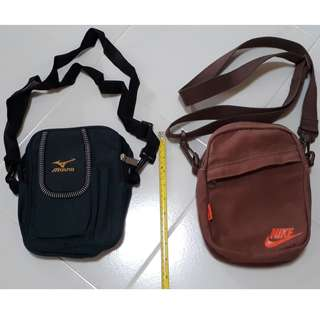 Sling Pouch Bag (approx. height 21cm x width 16cm) - Only Dark Green available