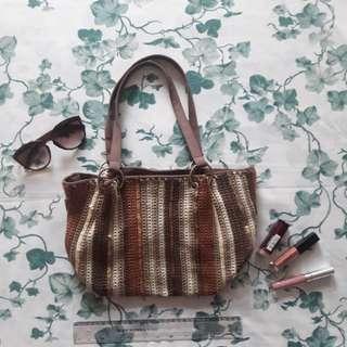 Crochet Brown Bag