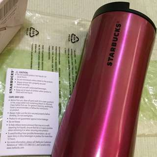 Starbucks Pink Gradient 16oz. Stainless Steel Tumbler Limited Edition