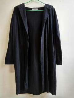 🚚 黑色連帽口袋防曬外套 薄外套