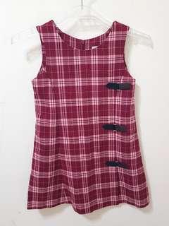 🚚 🏰英倫風格子女童🎀背心裙洋裝🎀(113~125cm)