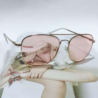 🚚 歐美時尚復古風粉色太陽眼鏡
