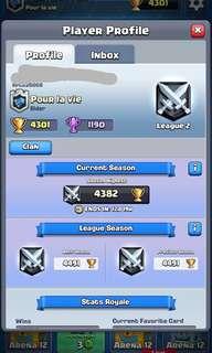4300+ 🏆 Clash Royale account!