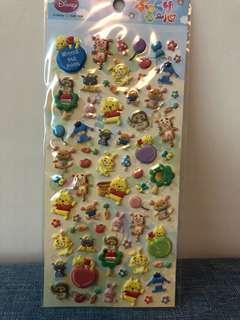 Winnie the Pooh and Piglet sticker 維尼 小豬 貼紙