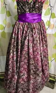 Purple Bubble Gown