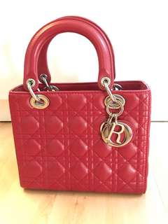 Christian Dior Lady Dior Red Small Non Authentic