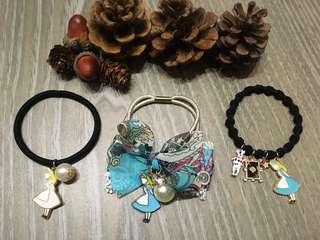 {💝出清特價中}韓國 愛麗絲雪紡緞帶髮圈&愛麗絲單圈髮飾🈴️售