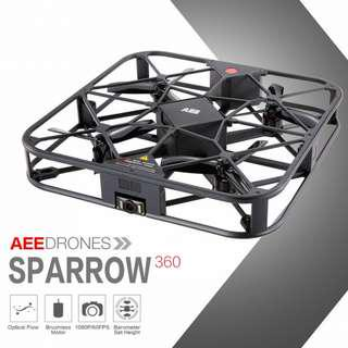Sparrow 360 12MP 1080P Selfie Drone with Obstacle Avoidance and Optical Flow Positioning