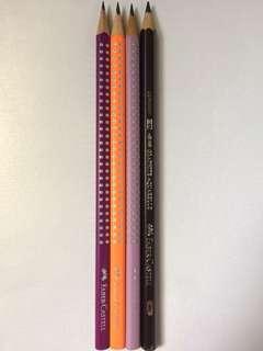 Faber-Castell pencils 4B & regular