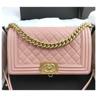 Authentic Chanel Boy Medium Pink