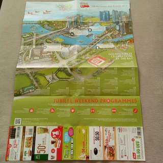2015 SG50 NS45 Singapore National Day Map