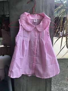 🚚 粉色無袖上衣(5號~17號)