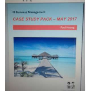 Case Study Pack - May 2017 - Paul Hoang