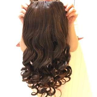 Korean wavy brown wig