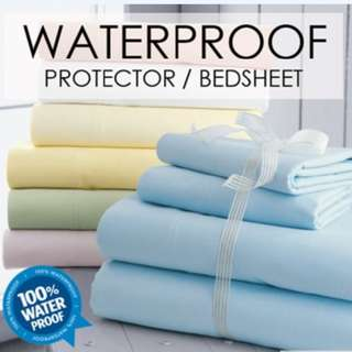 Waterproof bedsheet or pillow case - SAVE your mattress!!!