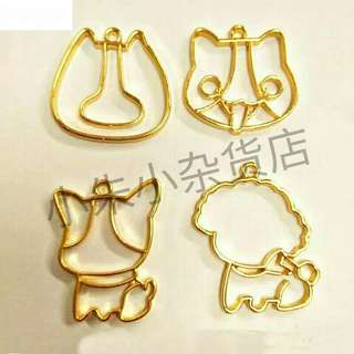 [PO] 4pcs Kawaii Dogs Pendant Bezel UV Resin DIY Metal Frame Handmade Cute Teddy Key Charms Jewelry Base