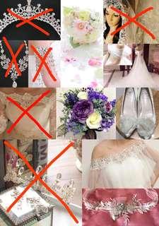 [婚禮合集] 新娘 配件/飾物 list