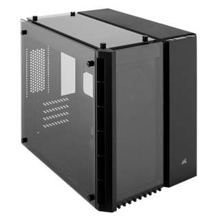 Corsair CRYSTAL SERIES 280X Tempered Glass TG MICRO ATX Matx Case ( Dual Chamber Intenal Layout, Fully Filtered, 3 x TG Panel ) - BLACK Color