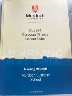 BUS 224 Corporate Finance