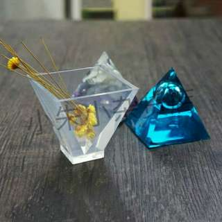 [PO] Transparent Pyramid Silicone Mould DIY Resin Decorative Craft Jewelry Making Mold