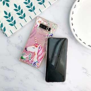 Brand New Unicorn Glitter Note 8 Phone Case