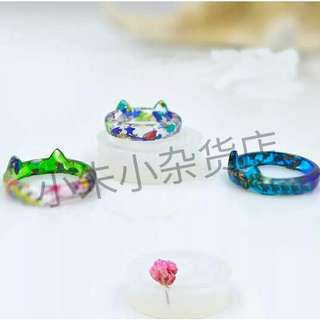 [PO] 1 piece Transparent DIY Silicon Resin Round Cat Shape Ring Mold