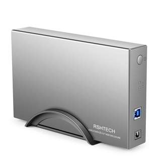 777. RSHTECH Hard Drive Enclosure USB 3.0 to HDD Disk External Aluminum Enclosure Case for 3.5 Inch SATA I/II/III /HDD Support UASP & 8TB Drives(Silver)
