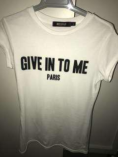 'Give in to me' T-Shirt (Givenchy imitation)