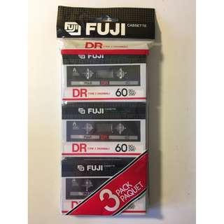 Vintage Cassette Tape 3-pack FUJI DRI
