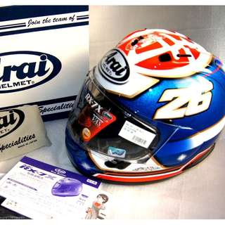 Arai full face helmet RX-7X CORSAIR-X RX-7V SAMURAI DANI PEDROSA from japan