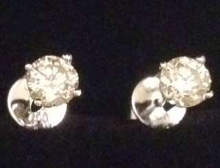 18K Natural Diamond Earrings 天然鑽石耳環一對共60份🈹
