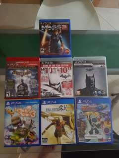 🚚 PS4 and PS3 Games
