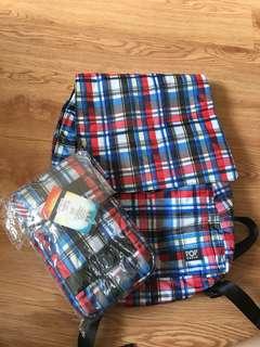 [Ready stock] Pop urban foldable stripe bag.