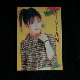周慧敏首發售紀念卡超金裝Yescard加同款白卡
