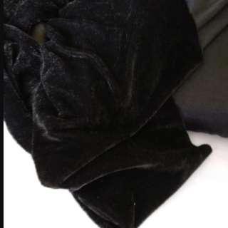 Black shinning velvet