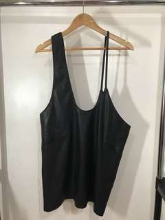 Black leather pinafore (Never used, still with tag)