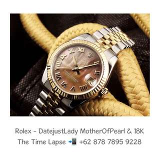 Rolex - Datejust Lady 31, Roman 'Mother of Pearl Dial' Steel & 18K Yellow Gold 'Random'