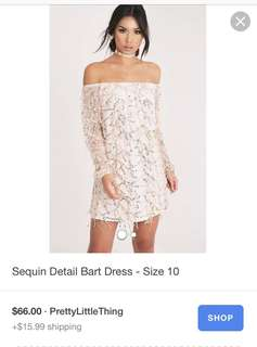 White sequin dress - Pretty Little Thing