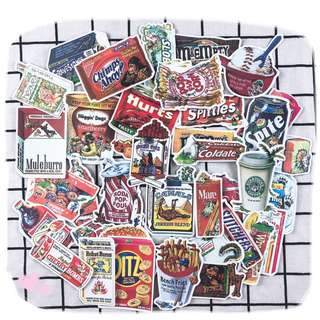 Retro Foodie Snack Collection Sticker 38pcs/set Pre-order