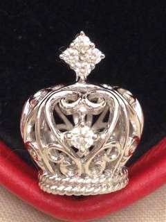 Pink box 18K 14份皇冠鑽石吊墜