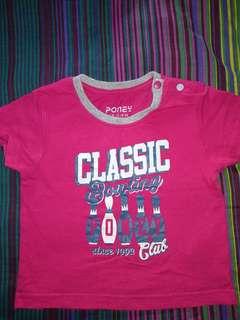 Poney tshirt (12-18 months)