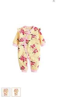 Baby girl cheongsam Onesie Chinese Chino Design Oriental Toddler Floral