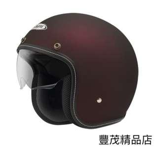 🚚 ⚠️另贈長鏡片⚠️ZEUS 瑞獅 388A 復古帽 半罩 安全帽 超輕量化 內襯可拆 內墨鏡 - 消光紅 平光紅